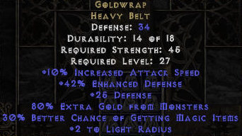 Goldwrap, Heavy Belt