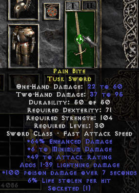 Pain Bite, Tusk Sword